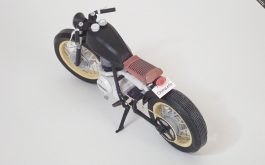 Single Cylinder Motorcycle-like a Caferacer- (printed paper)